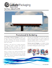 Maritime Labels & Packaging Promotional & Marketing Brochure
