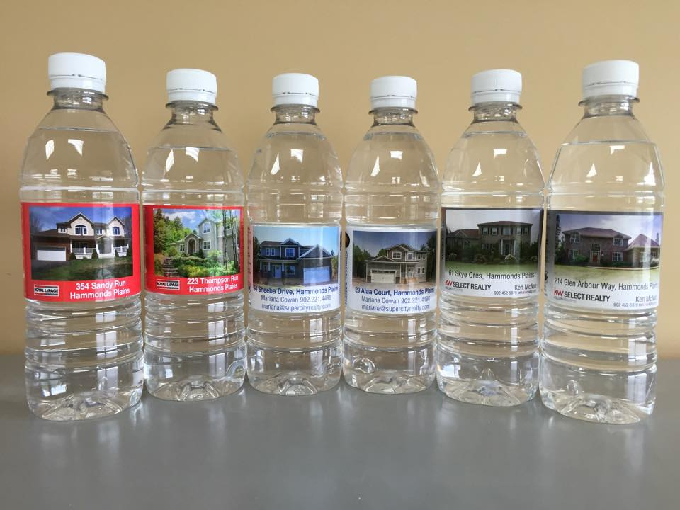 Private label promotional water